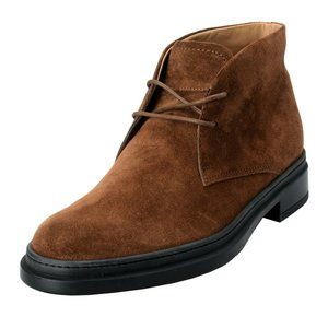 Tod's Mens Suede Brown Polacco Lace Up Ankle Boots
